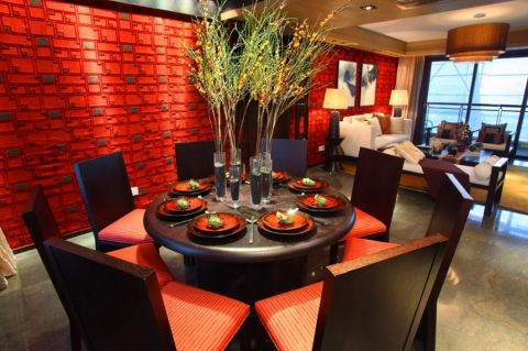 餐厅餐桌新中式风格装修图片