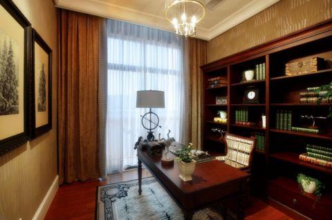书房窗帘新古典风格装饰图片