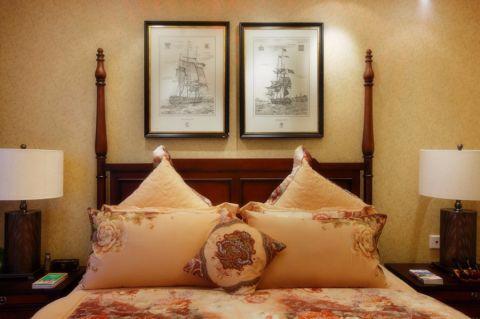 卧室背景墙新古典风格装修设计图片