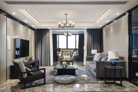 现代简约风格160平米三室两厅室内装修效果图
