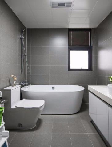 浴室浴缸现代简约风格装修效果图