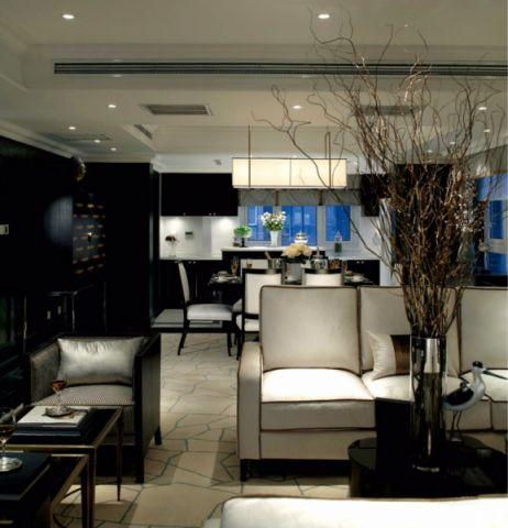 客厅沙发后现代风格装潢设计图片