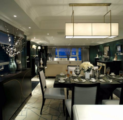 餐厅吊顶后现代风格效果图
