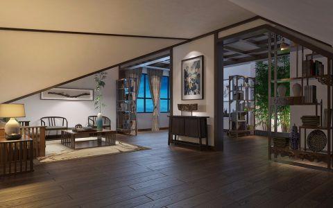 新中式风格105平米跃层房子装修效果图