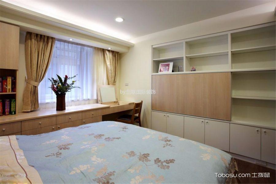 卧室 书桌_现代简约风格90平米三室两厅新房装修效果图