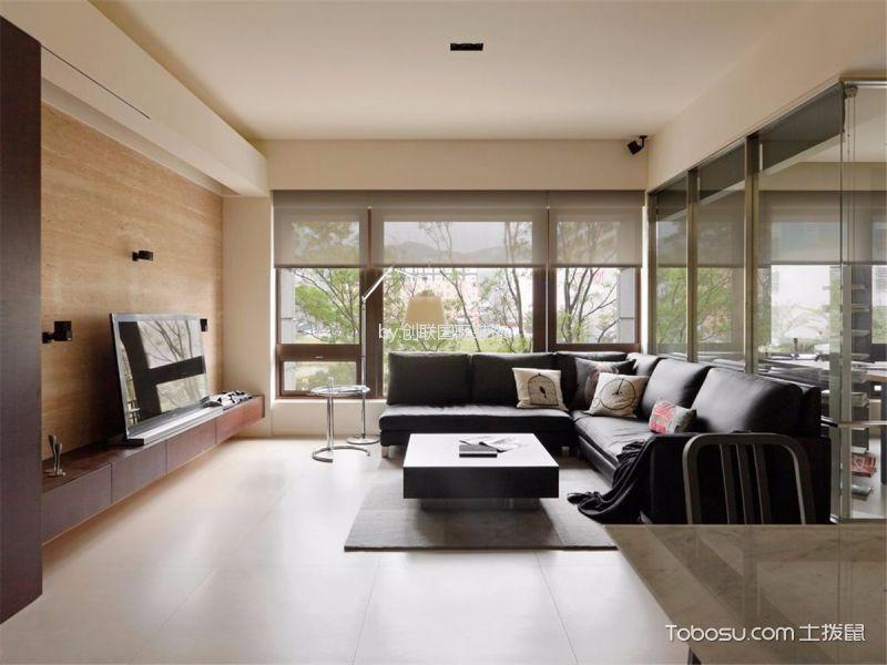 现代简约风格110平米三室两厅房子装修效果图