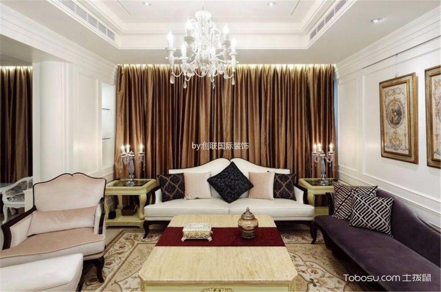 简欧风格130平米三室两厅室内装修效果图