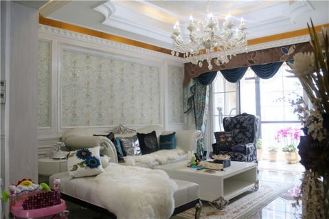 新古典风格110平米三室两厅新房装修效果图