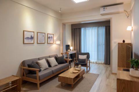 日式风格120平米三室两厅新房装修效果图