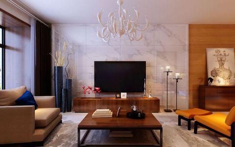 中式风格155平米公寓室内装修效果图