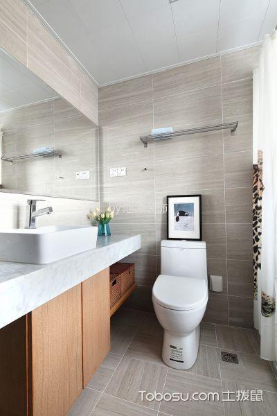 卫生间灰色背景墙现代风格装修图片