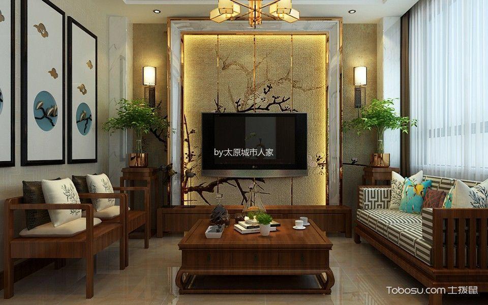 晋中曙光花园260平米中式风格效果图