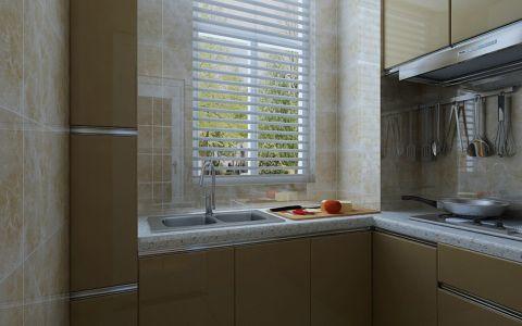 厨房窗帘现代简约风格装修图片