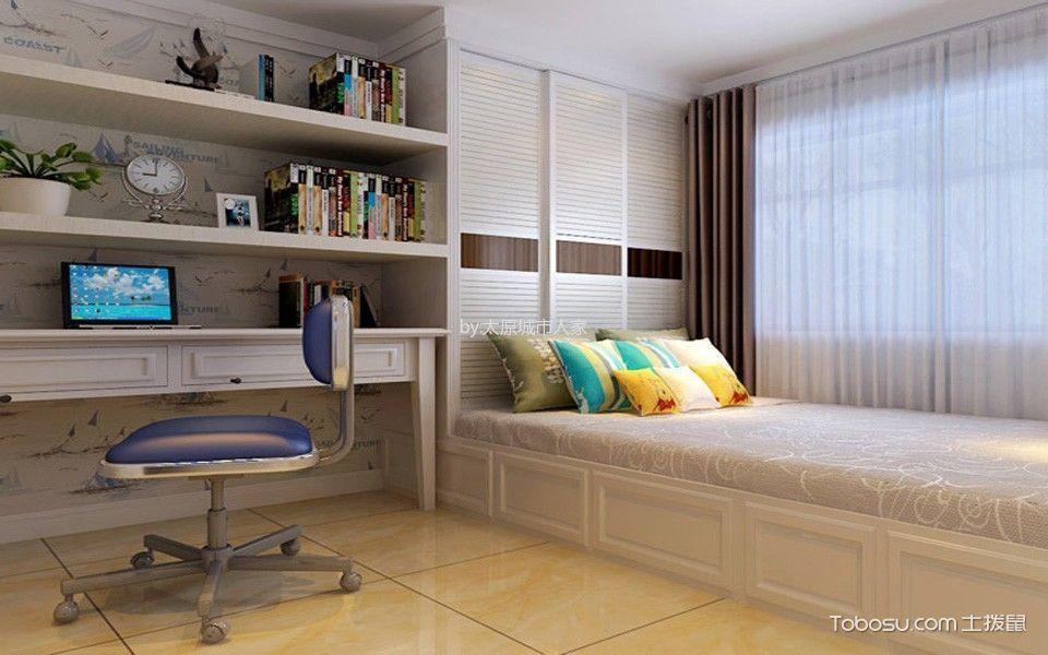 卧室白色榻榻米现代简约风格装修设计图片