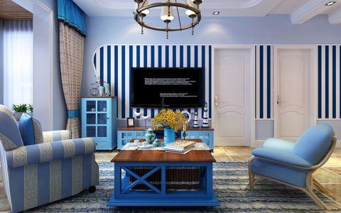 地中海风格93平米两室两厅室内装修效果图