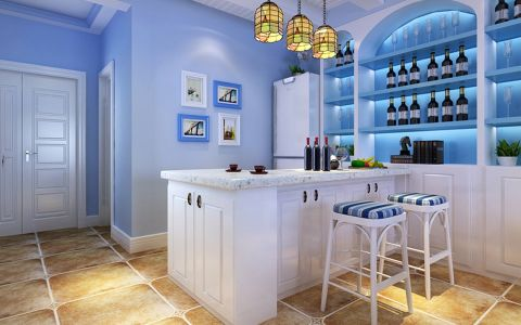 餐厅照片墙地中海风格装饰设计图片