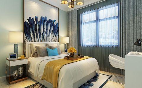 卧室窗帘现代简约风格装修效果图