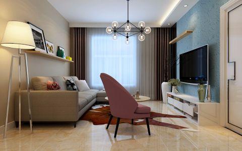 现代简约风格119平米大户型房子装修效果图