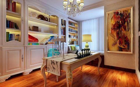 书房书桌简欧风格装修设计图片