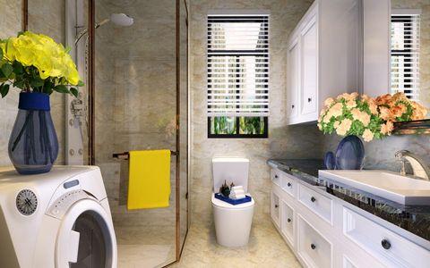 卫生间洗漱台简欧风格装潢设计图片