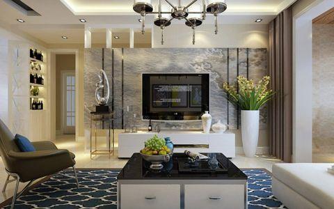 现代简约风格114平米楼房室内装修效果图