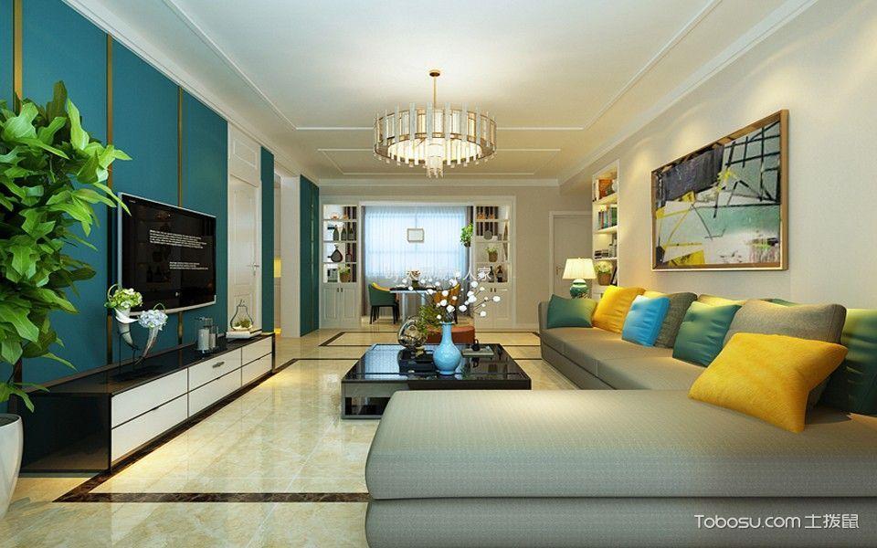 现代简约风格117平米楼房室内装修效果图