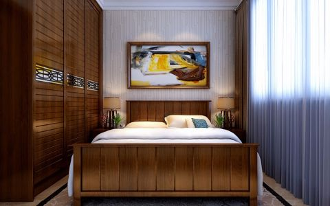 卧室衣柜新中式风格装修效果图