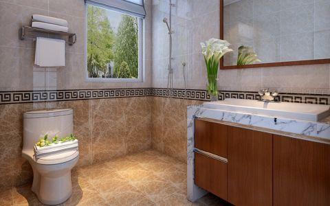卫生间地砖新中式风格装修图片
