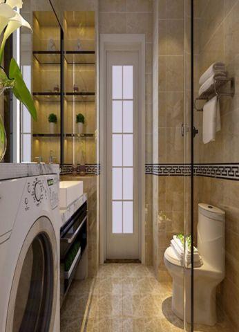 卫生间地砖现代简约风格装潢效果图