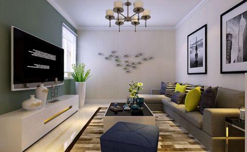 纺织宿舍89平米现代简约风格效果图