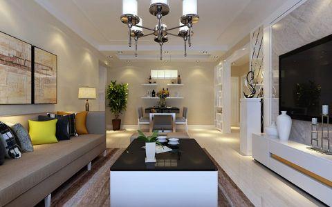 客厅茶几现代简约风格装潢效果图