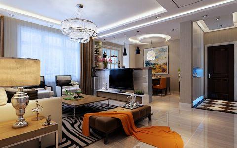 现代简约风格130平米三室两厅室内装修效果图