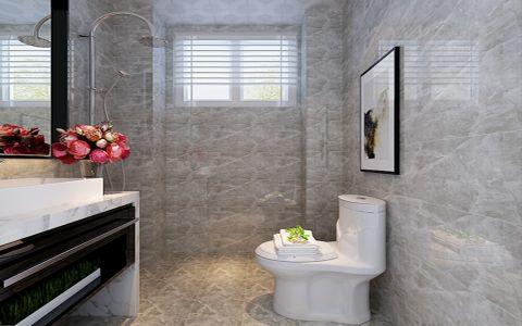 卫生间地砖现代简约风格效果图