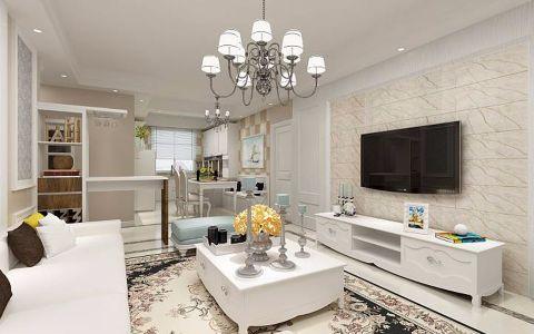 欧式风格96平米楼房室内装修效果图