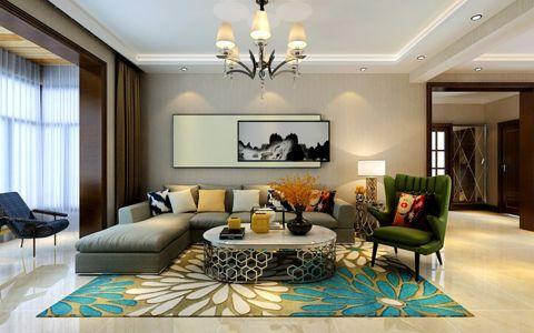 现代简约风格81平米两室两厅室内装修效果图