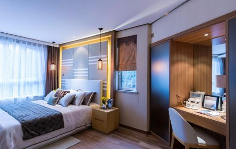 20万预算130平米三室两厅装修效果图