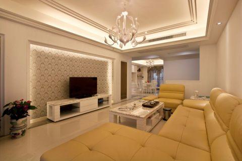 15万预算115平米三室两厅装修效果图
