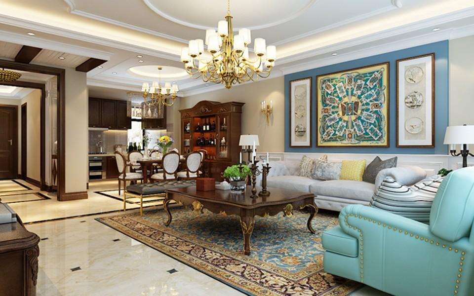 3室1卫2厅140平米美式风格