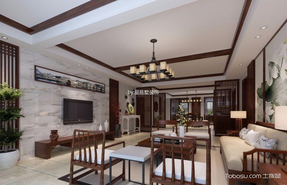 世贸四期平层公寓新中式风格效果图