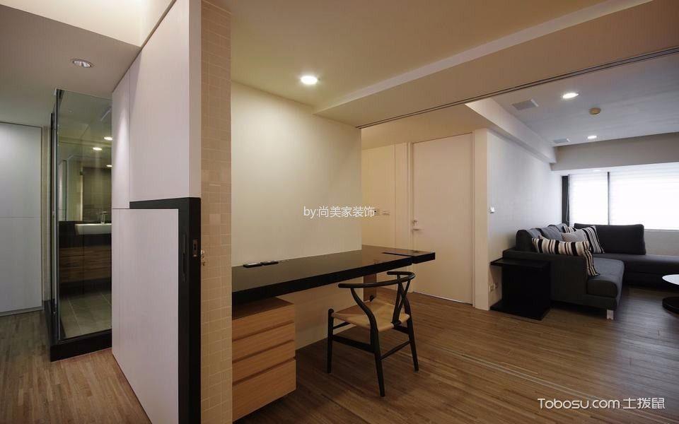 客厅黑色书桌现代风格装潢设计图片
