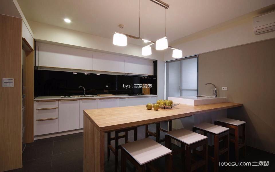 厨房米色吧台现代风格装饰效果图