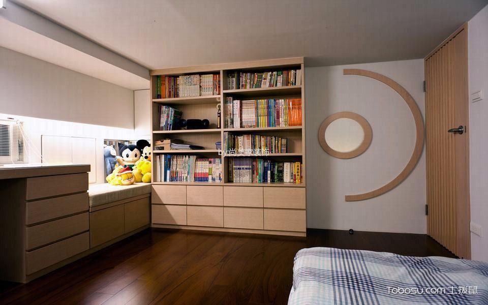 卧室白色背景墙现代风格装饰图片