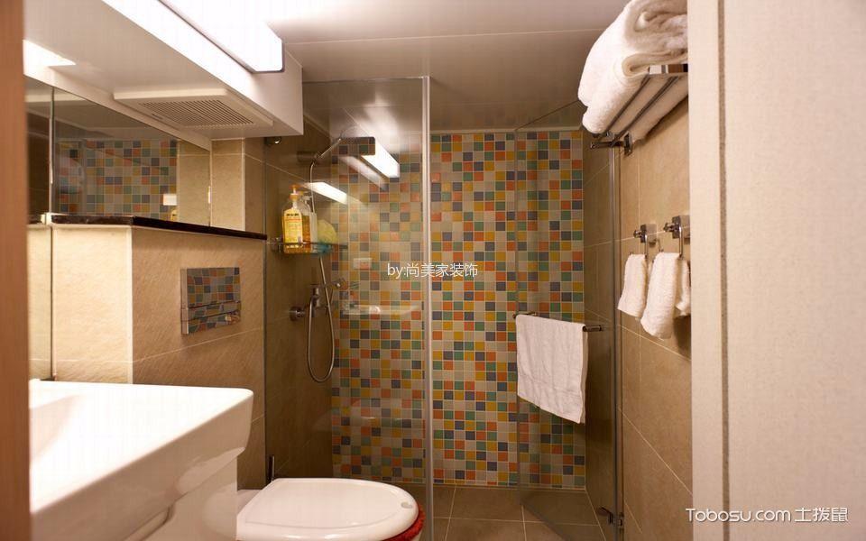 卫生间白色隔断现代风格装饰效果图