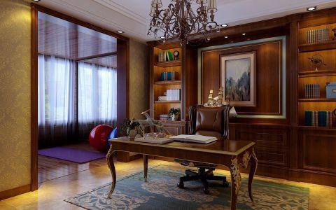 书房吊顶美式风格装潢设计图片