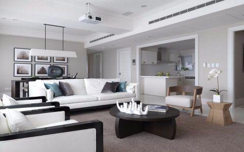 9.5万预算115平米三室两厅装修效果图