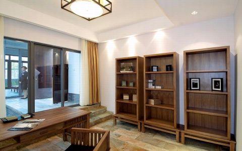 书房书架中式风格装饰设计图片