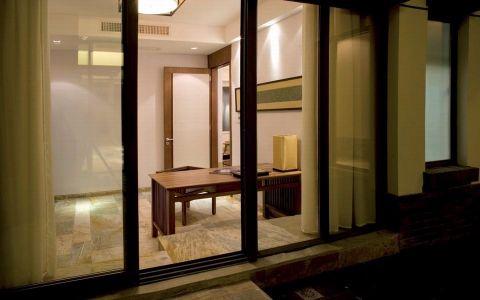 书房窗帘中式风格装潢效果图