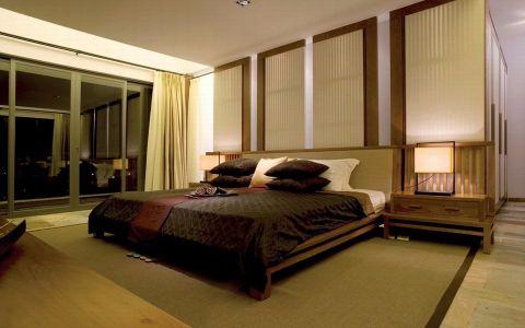 卧室床头柜中式风格装修图片
