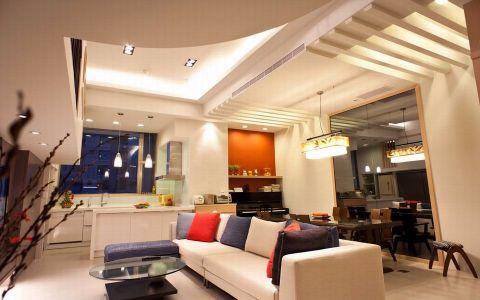 客厅现代风格装潢图片