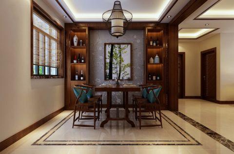 餐厅背景墙新中式风格装修设计图片